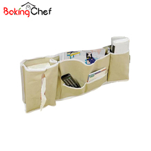BAKINGCHEF Bedside Deskside Hanging bag Home Foldable Storage Basket Newspaper Phone Cases Organization Accessories Supplies(China)