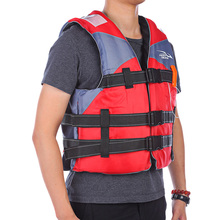 KEEPDIVING Outdoor Life Vest Flotation Device Lifesaving Whistle Reflective Patch Swimming Boating Ski Life Jackets Fishing Vest(China)