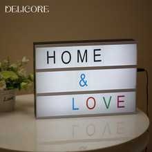 DELICORE Cinematic Lightbox Night Light Battery Powered And DC Port Energized Mode A4 Size Acrylic LED Cinema Light Box S020