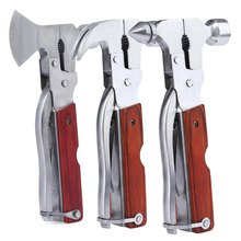 Multifunction Outdoor Camping Emergency Survival Tool Set Safety Hammer Opener Screwdriver Sawtooth Knife Plier For Camping