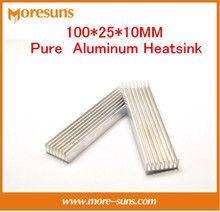 Free Ship Pure aluminium radiator thermal conductivity fast 100*25*10MM Pure Aluminum Heatsink