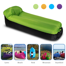 Inflatable Camping Sleep Bed Air Sofa Beach Bed Lounger Portable Air Bed Sleeping Sofa Couch for Travel Camping Beach Backyard