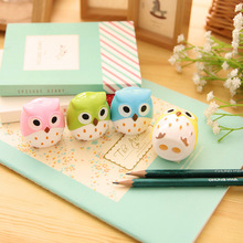 2Pcs Kawaii Owl Pencil Sharpener Cutter Knife Promotional Gift Stationery(China)