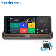 Flordgramy 7'' 3G Android Car DVR GPS Navigation FHD 1080P Dashboard Dash Cam Camera WiFi Video Recorder with two cameras DVR(China)