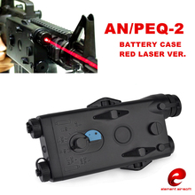 Airsoft Tactical AN PEQ-2 Battery Case Box Red laser Ver for 20mm Rails No Function L100mm*W65mm*H20mm PEQ Box(China)