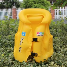 Kinds Sale Surfing >3 Years Child Children Life Vest Boating Jacket Fishing Swimming Inflatable Jackets 2017 New Beach Swim Pvc(China)