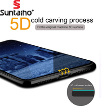Buy Suntaiho 5D Screen Protector iPhone X Edge Full Curved Premium Anti-Explosion Tempered Glass iPhone X glass film for $4.41 in AliExpress store