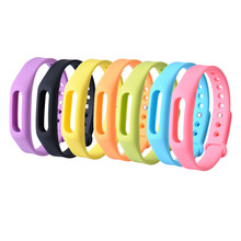 New for Xiaomi Miband Strap Smart Wristband Replacement for Xiaomi Mi Band Strap Sillicone Replace Accessories On Wrist 7 colors(China)