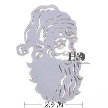 120PC/lot Laser Cut White Santa Claus Place Card Wine Glass Card Christmas Party Souvenir Wedding Invitations Favors Decoration