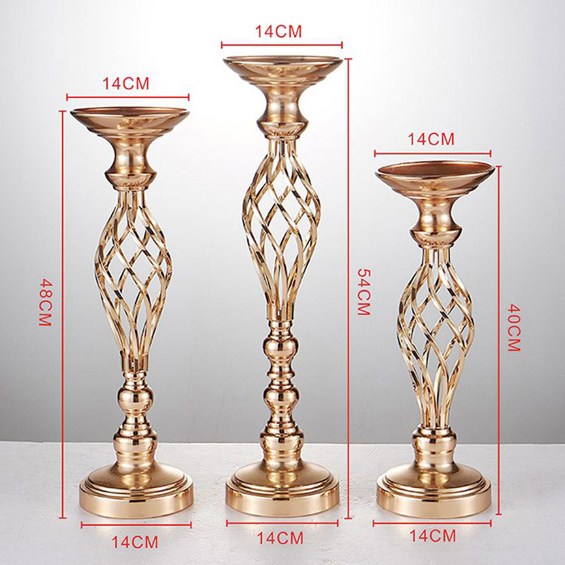 Metal Gold candle holders Table Centerpieces
