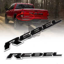 Car Styling Refitting ABS Car Motorcycle Tailgate Nameplate Rebel Decal Sticker Badge Emblem Universal for Dodge Ram 1500