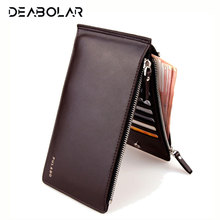 Classical Long Style Quality Ultrathin Bank Card Sets Men's Multi Bits Credit Card Holder Large Capacity Wallet Zipper Purse