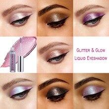 PHOERA Glitter Liquid Eyeshadow Nude Bottle Eye Shadow Pallete Cosmetic Make Up Sombras De Ojos Profesional Maquiagem TSLM1(China)