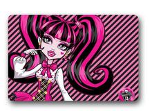 Custom Machine-Washable Monster High Cute Girl Door Mat Indoor/Outdoor Decor 40x60cm Rug Doormat Room Decoration
