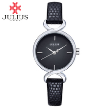 Hot leather wristwatch women dress watches Female fashion casual Miyota quartz watch best clock Julius brand 694 Freeshipping(China)