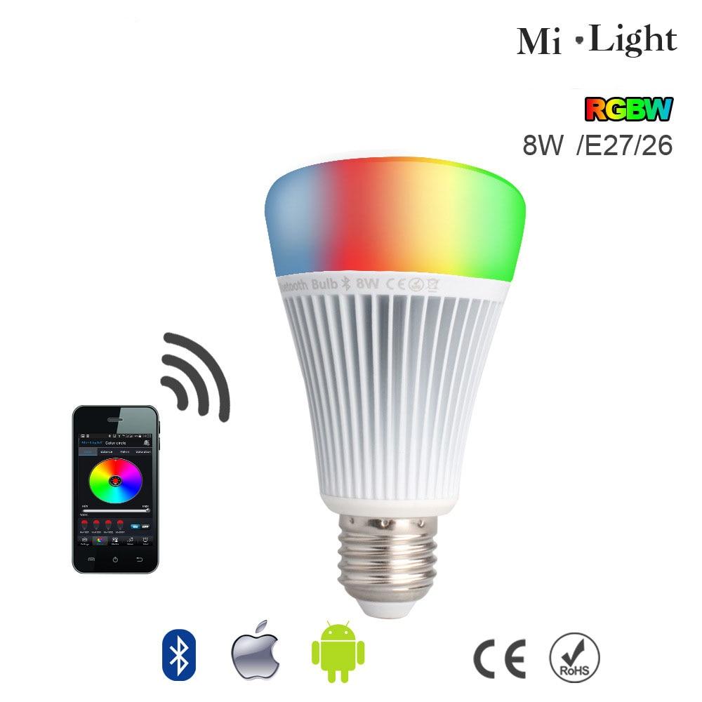 5pcs/lot Mi Light Smart Bluetooth 4.0 LED Light RGB + Color temperature Control with Samrtphone Remote Romantic lamp Better<br><br>Aliexpress