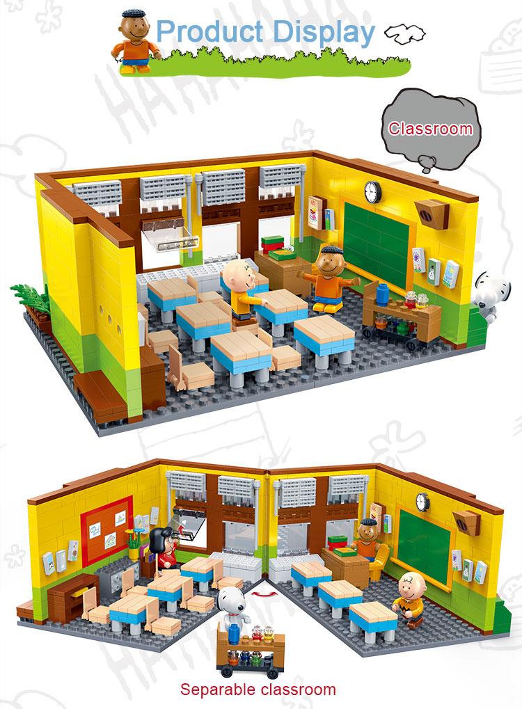 BanBao 7501 Snoopy Classroom Plastic Building Block 23