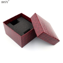 DIVV Household Box Home Storage Portable Crocodile Durable Present Gift Box Case For Bracelet Bangle Jewelry Watch Box