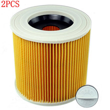 2pcs replacement air dust filters bags HEPA Filter for karcher WD2.250 WD3.200 MV2 MV3 WD3 karcher filter Vacuum Cleaners parts(China)