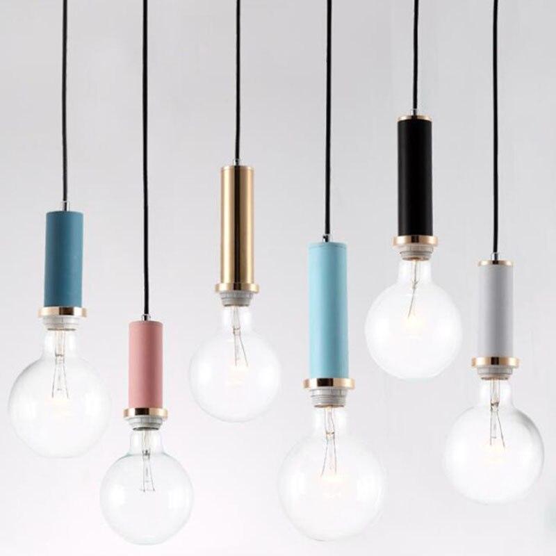 Nordic simple Pendant lights Modern bedroom bedside dining room Pendant lamp Bar/cafe individual creative lighting fixtures <br>
