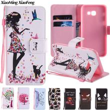 Buy Coque Samsung Galaxy A5 2017 Phone Case Flip Cover Samsung Galaxy A5 2017 Case Card Wallet Leather Painted Cartoon Phone Bag for $3.92 in AliExpress store