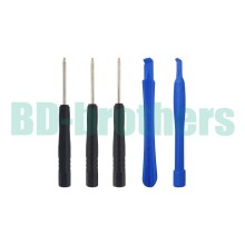 5 in 1 Opening Tools Kit Open Tool Set Opening Tool Sets ( Crowbar + T4 T5 T6 ) for Blackberry 500set/lot