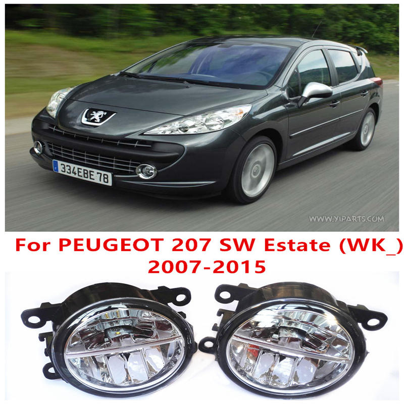 For PEUGEOT 207 SW Estate (WK_) 2007-2015 Fog Lamps LED Car Styling 10W Yellow White 2016 new lights<br>