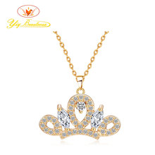 YINAIXIU Vintage Dancing Swans Pendent Necklace for Women AAA Cubic Zirconia Long Chain Pendent Elegant Jewlry for Wedding Party(China)