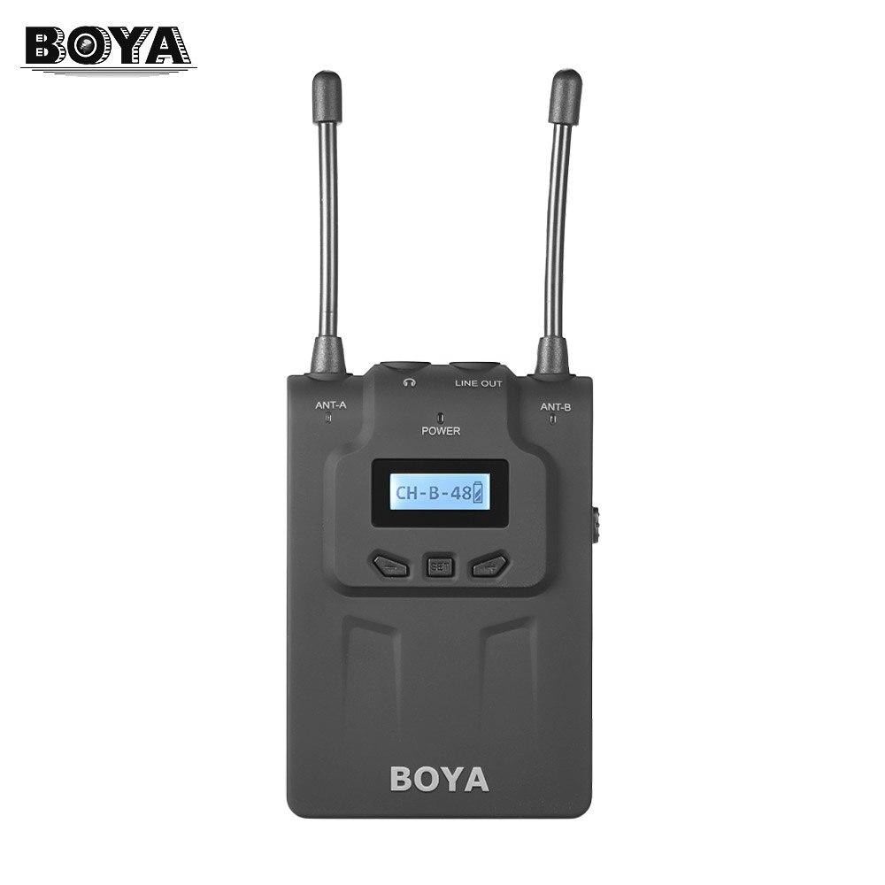 BOYA-BY-WM8R-UHF-Dual-Anrenna-Wireless-Microphone-Mic-Receiver-48-Chs-for-ENG-EFP-for (2)
