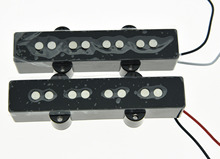 KAISH Black J Bass Neck Bridge Pickup Bass Pickups Set for 4 String Jazz Bass Guitar