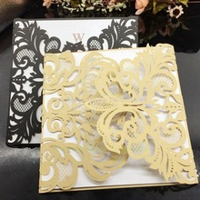 20Pcs Romantic Wedding/Business/Party/Birthday Invitation Cards Wedding Party Invitation Card Envelope Delicate Carved Pattern
