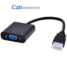 Black 1080P HDMI Male to VGA Female Video Converter Adapter Cable hdmi to vga For PC DVD