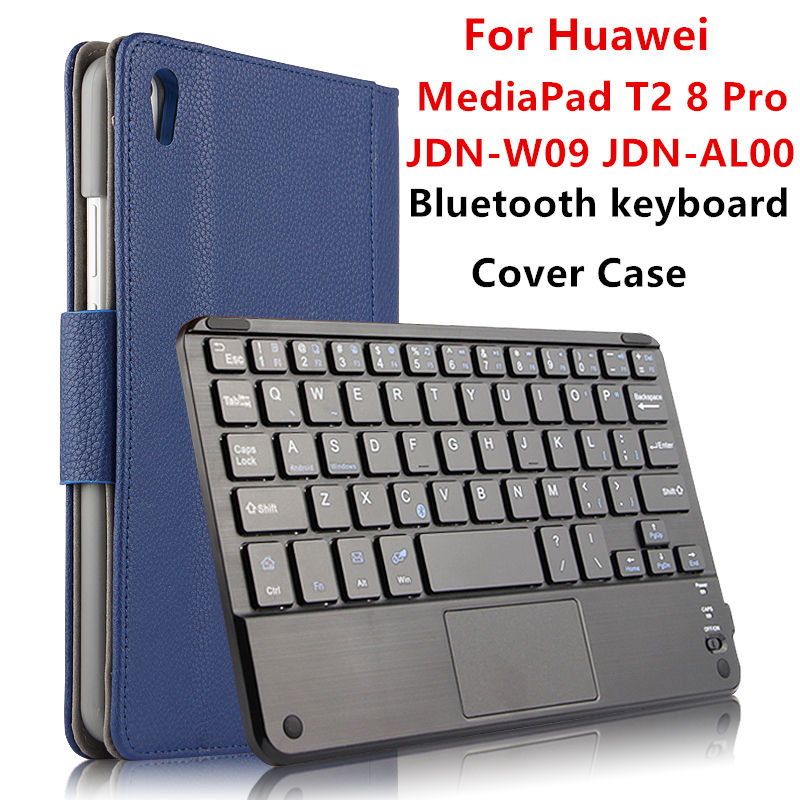 Case For Huawei MediaPad T2 8 Pro Protective Wireless Bluetooth keyboard Smart cover Leather Honor Tablet PC 2 PU Protector 8<br>