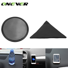 Onever  Mini Anti-Slip Car Pad Dashboard Mat Sticky Gel Pad Round Triangle Non-Slip Mounting Pad for Phone Sunglasses Keys Coins