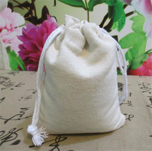 High quality 10x13cm 50 pcs hemp Jute Cotton and line Drawstring Christmas Gift soap coffee bean tea packaging bag