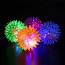 Foot Body Spiky Massage Ball Point Fitness Hand Foot Pain Relief Sound 6.5cm Color Random