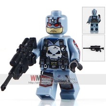 Single MOC PG216 Captain Punisher With Weapon Marvel Super Heroes Bricks Learning Building Blocks Children Gifts Toys PG8058