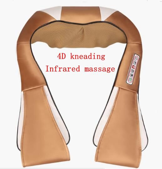 Infrared electric massage device for cervical vertebra shoulder neck body massager home car dual use<br>
