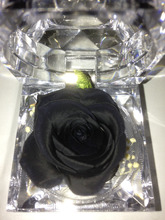 Free shipping,black rose,fresh flower,preserved,natural rose,ring box,Flower of eternal life.flores inmortales,christmas gift