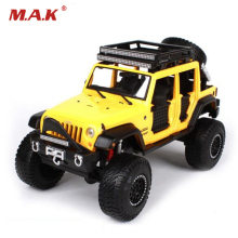 Maisto 1/24 Jeep Wrangler Unlimited Diecast Car Model Yellow/Grey/Beige Color Collectible SUV Models Gifts(China)