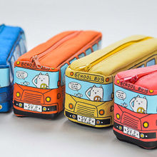 Cool Bus Canvas Pencil Case Stationery Pen Bag Box Storage Holder Off-Roader New