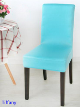 Tiffany Colour Spandex lycra chair cover fit for square back home chairs wedding party home dinner decoration Half cover