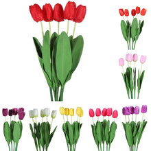 5pcs/lot Artificial Flowers Cheap Bouquets Home Decoration PU Tulip for Wedding Decoration