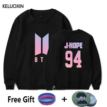 KELUOXIN BTS Kpop Group Women Hoodies Love Yourself Album Sweatshirt Fashion SUGA V JIMIN Fans Club DNA Song Clothes Plus Size(China)