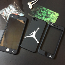 Hot Japan popular 360 Degree Full protection Cover case for iphone 6 S 6S plus 7 7plus 8 Trend jordan hard plastic back cases(China)