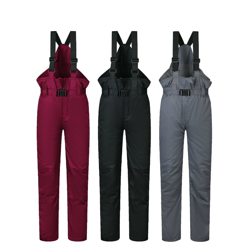 2017 New Outdoor Sports Boys Girls Ski Pants Kids Windproof Waterproof Warm Winter Snow Snowboard Children Overall Trousers(China (Mainland))