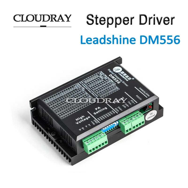 Cloudray Драйвер шагового двигателя 2 Leadshine фазы DC драйвер контроллера двигателя 0.5-5.6A DC 20-45 В для NEMA 23 двигателя DM556(China)