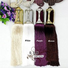 New  80 cm long Large Crystal Beaded Tassel Curtain 8 colors Tieback /hold backs with 2 pcs/ Pair