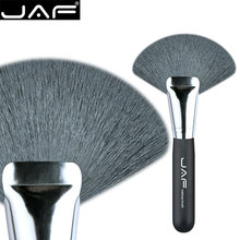Retail JAF 16GKYF Large Fan Brush Natural Goat Hair Soft Bristle Brush for Face Powder Bronzer Makeup