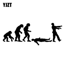 YJZT 17.5CMX6.6CM Interesting Evolution Of ZOMBIE Grave Dead Living Brains Human Decals Car Sticker Vinyl Car-styling S8-1176(China)